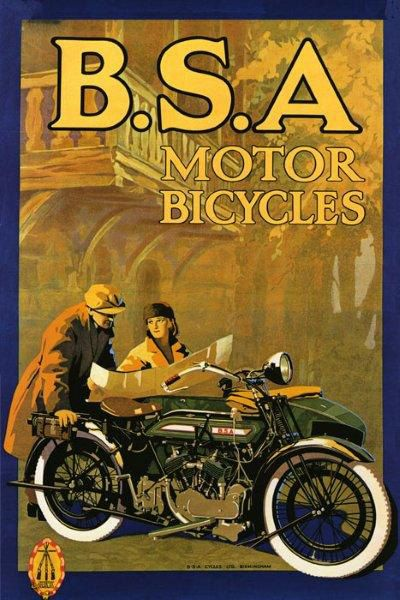 Retro Motorcycle Posters