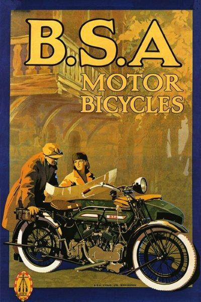 Vintage motorcycle poster free