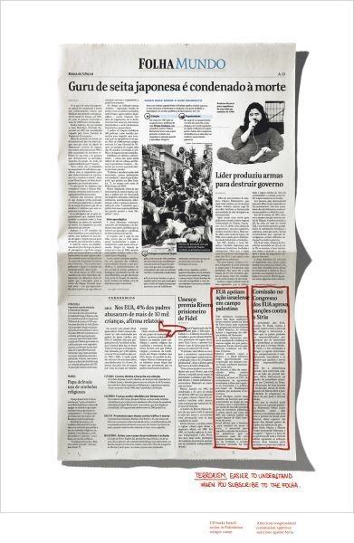 Adeevee - Folha De S. Paulo Newspaper Subscription: Elections, Terrorism, Power