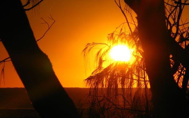 Sunrise the day begins on Moreton Island