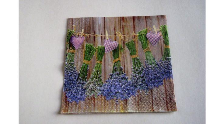 Levendula csokros szalvéta - KreatívHobbyDekor webáruház