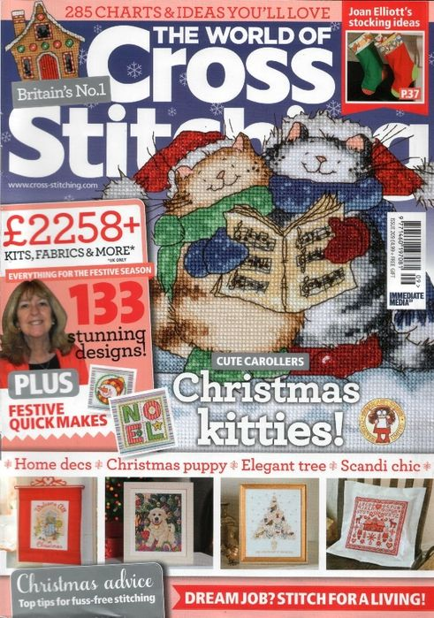 The World Of Cross Stitching Magazine. Issue 209. Full Magazine. Follow Link For Downloads.