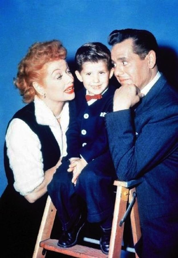 """Publicity photo of Lucille and Desi with Keith Thibodeaux who played """"Little Ricky"""". 