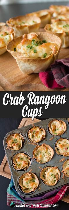 Crab Rangoon Cups from http://dishesanddustbunnies.com