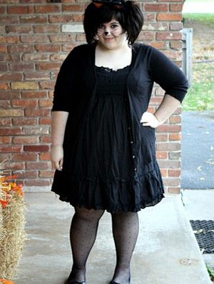 14 halloween costumes you can make with a little black dress gurlcom - Cat Outfit For Halloween