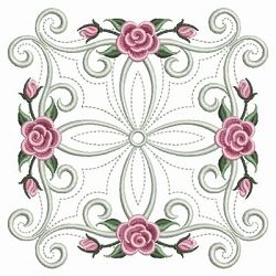 Pearl Roses Quilt 10 - 3 Sizes!   Quilt   Machine Embroidery Designs   SWAKembroidery.com Ace Points Embroidery