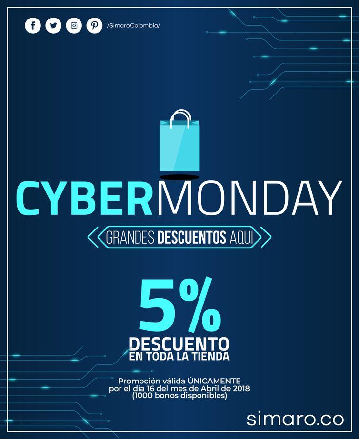Sólo por hoy Cyber Monday en #Simaro 👉🏻 http://simaro.co/ Descuentos en toda nuestra tienda 🤝🏻 @SimaroColombia #SimaroColombia #CyberMonday #CyberLunes #ECommerce #Novedades #Compras #Regalos #Descuentos #SimaroCo 🇨🇴 #LoEncontramosPorTi #SimaroBr 🇧🇷 #SimaroMx 🇲🇽