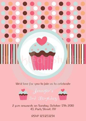 best 25+ cupcake invitations ideas on pinterest | cupcake party, Birthday invitations