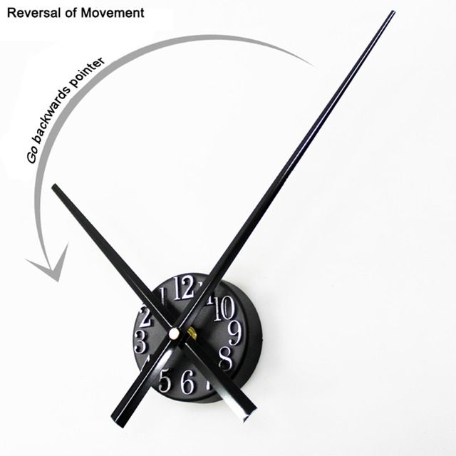 Check current price Go Backwards Pointer Wall Clock 3D Digital time-scale Point Wall Clock Reversal Jump a stopwatch Clock just only $15.05 with free shipping worldwide  #clocks Plese click on picture to see our special price for you