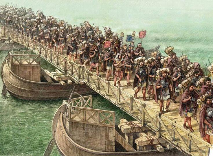 A Roman Legion crossing a river                                                                                                                                                                                 Más