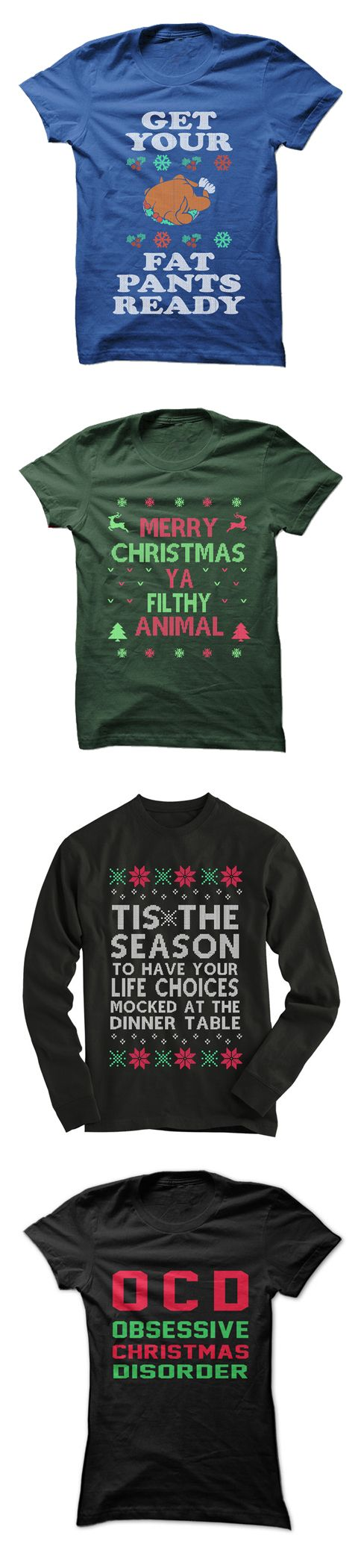 Dozens of wonderful Christmas Shirts available. Free Shipping always available. Click to check out our selection of awesome Christmas designs!