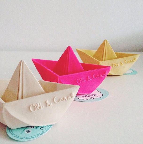 Oli and Carol Origami Boat Bath Toys