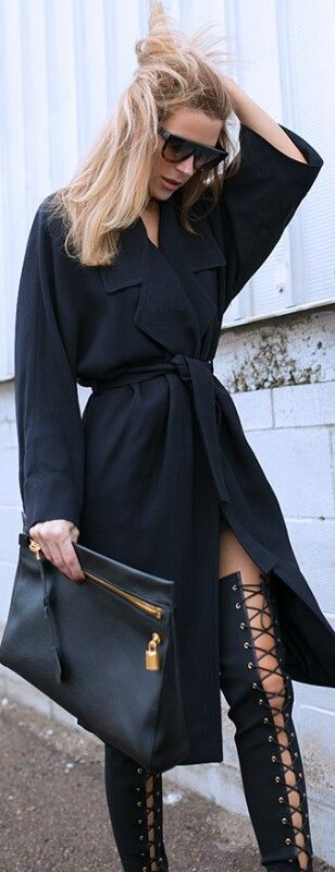 Sunglasses - Celine, Clutch - Tom Ford, Coat - Gucci, Boots - Tom Ford / Native…