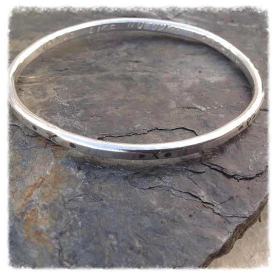 Handcrafted Sterling Silver bangle  handcrafted by HENjewellery