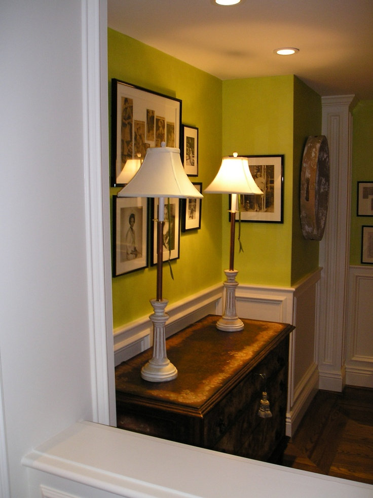 bright colors to lighten up a dark basement room or for a foyer that