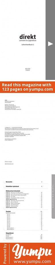 Lehrwerk für Jugendliche Lehrerhandbuch 2 - Klett Kiadó ... - Magazine with 123 pages: Lehrwerk für Jugendliche Lehrerhandbuch 2 - Klett Kiadó ...
