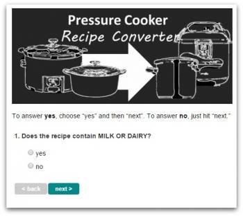 Example of Recipe Converter