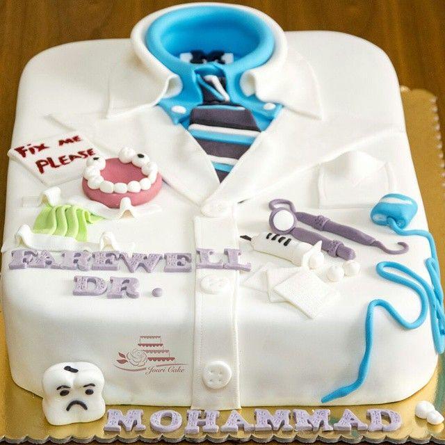 Dentist Lab Coat Cake