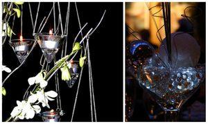 ¿Te casas en invierno? Aqui 5 fabulosas ideas para centros de mesa invernales que de seguro te inspirarán.: Cristales, esferas, y conitos de cristal evocan nieve y hielo