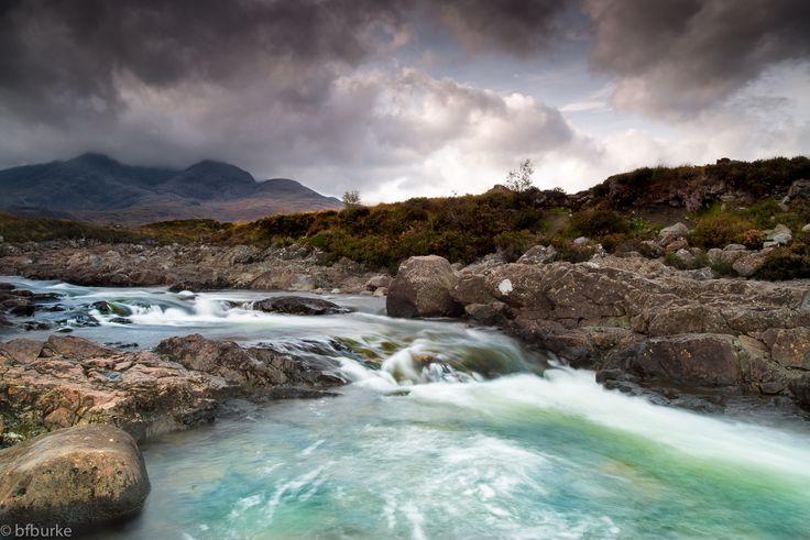https://flic.kr/p/A53zY4   Sligachan   The fantastic scenery of the Isle of Skye.  This image is one taken at Sligachan, looking along the river with the imposing mountains of Sgurr A Bhasteir and Sgurr Nan Gillean in the background.