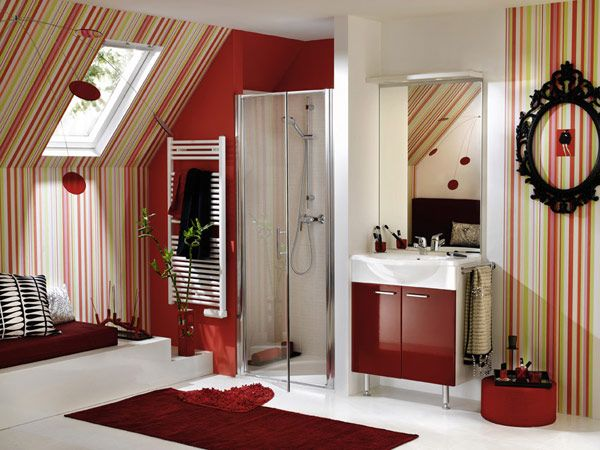 32 best red bathrooms images on pinterest | red bathrooms, red and