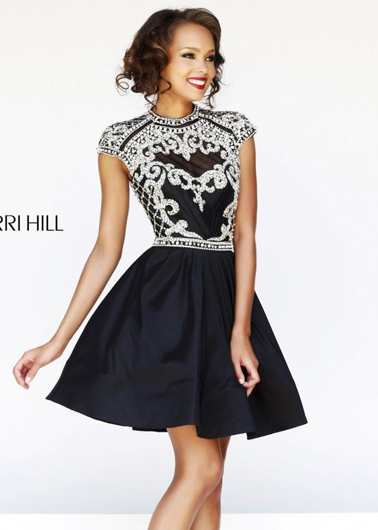 2162fa88baa Sherri Hill 4300 - Ivory Beaded Short Homecoming Dresses Online ...