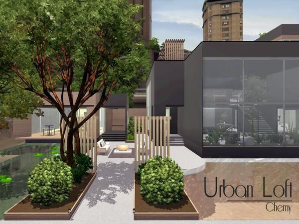 Urban loft by chemy sims 3 downloads cc caboodle the for Urban minimalist house
