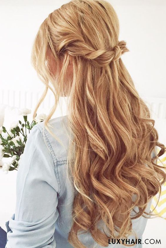 Gallery: Twisted half up half down hairstyles