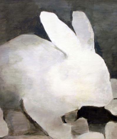 The Rabbit   -   1994   -    Luc Tuymans   -   http://www.davidzwirner.com/artists/luc-tuymans/