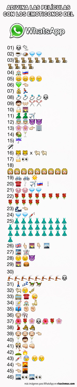 Películas con emoticonos del WhatsApp