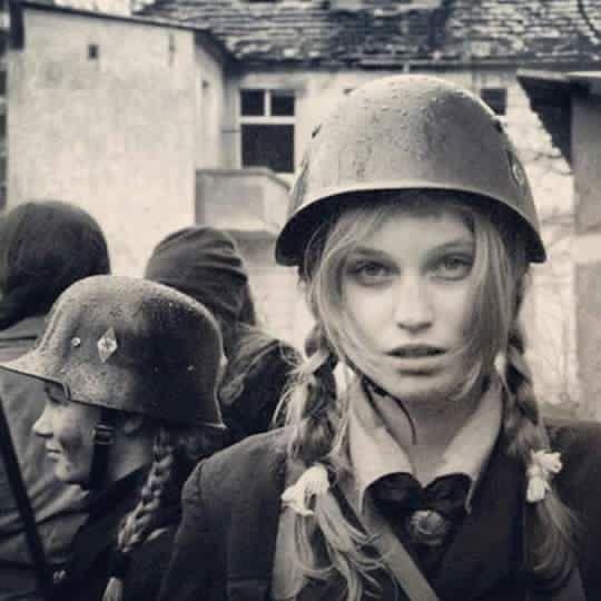 German girl at war