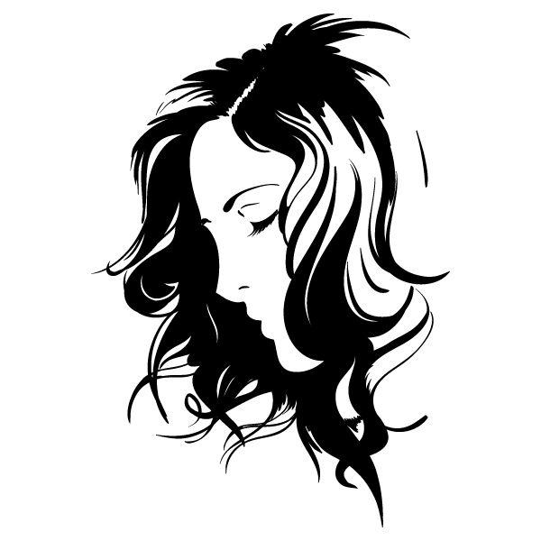 Silueta del rostro de una mujer - Imagui