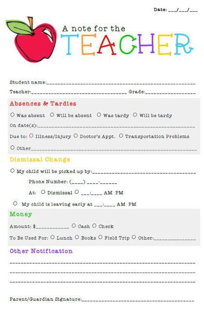 free meet the teacher template - a note for the teacher perfect to give to parents at meet