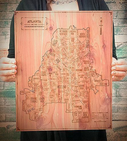 Atlanta Wood Map