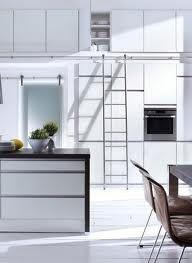 modern kitchens with ladder