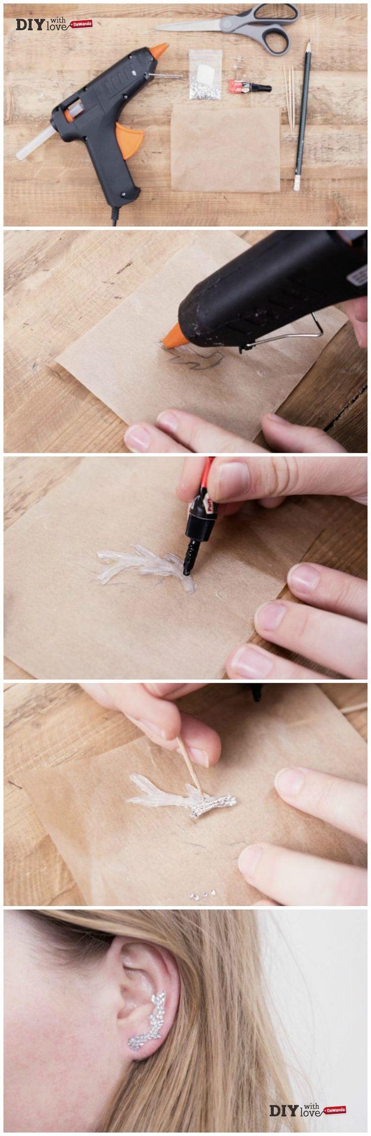 Colla a caldo e glitter: ecco come realizzare degli #earcuff handmade con il nostro #tutorial