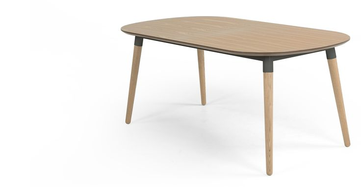 Edelweiss Extending Dining Table, Ash and Grey | made.com