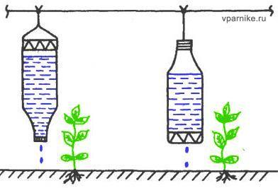 Мини-устройства для капельного орошения из бутылок