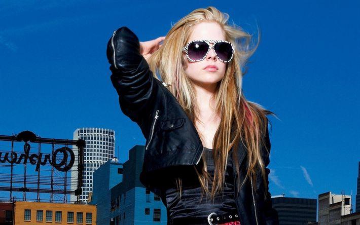 Hämta bilder April Lavinge, superstars, kanadensisk sångare, blond, skönhet