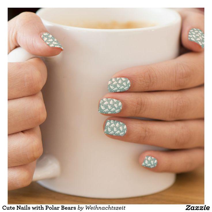 Cute Nails with Polar Bears Nagelsticker