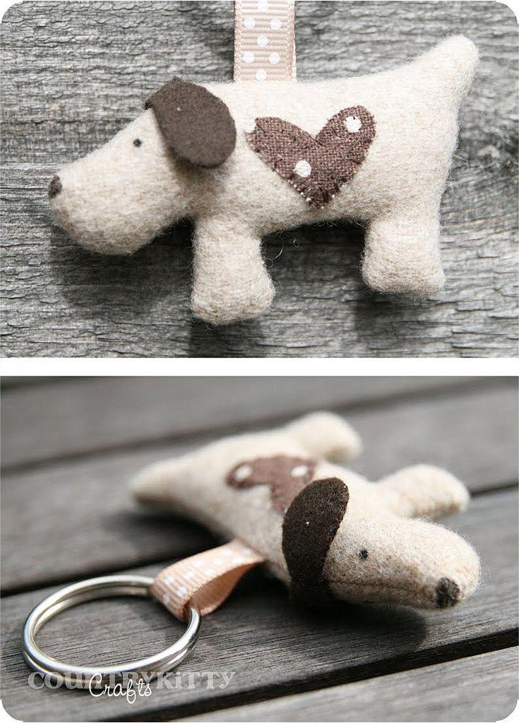 https://flic.kr/p/8BcFpV | sweet dog keychain | handmade by me design by me