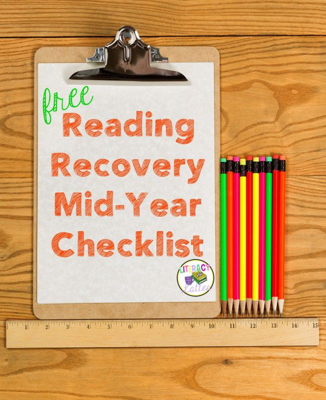 Free checklist for transitioning fall to mid-year Reading Recovery students.