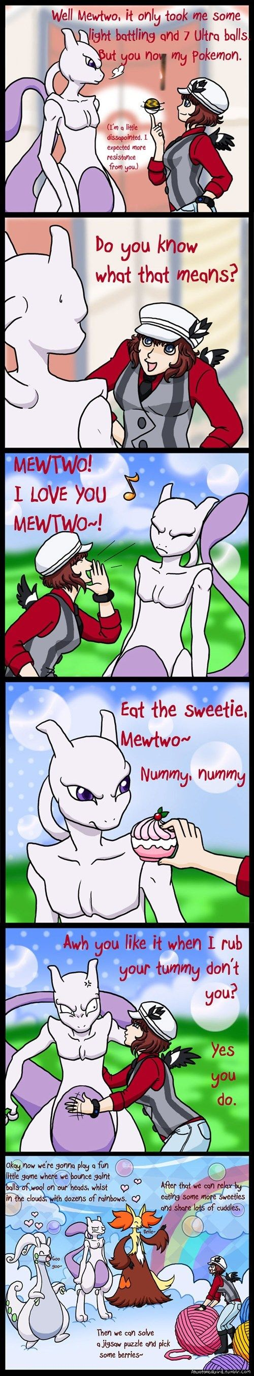 Mewtwo, I Love You! That's exactly what I thought when I was playing with him! XD