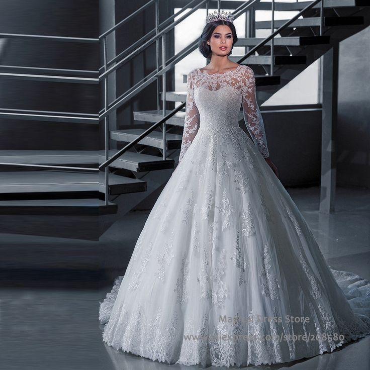 Vestido De Noiva Lace Winter Wedding Dress Long Sleeve See Through Robe Mariage A Line Dresses Verna Custom