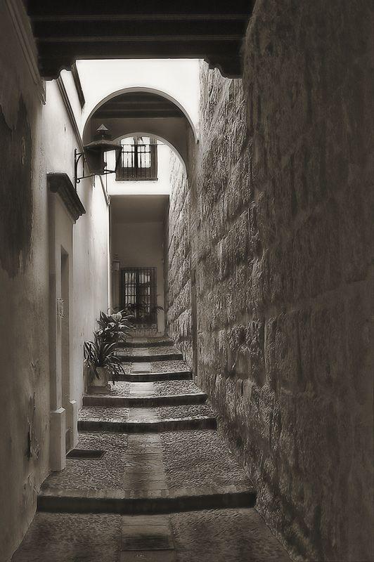 Callejon - barrio de Santa Cruz, Sevilla, Andalucía, Spain