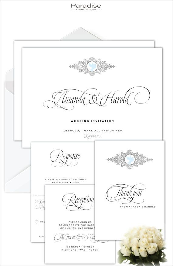 The 16 best Wedding Invitations images on Pinterest   Christian ...