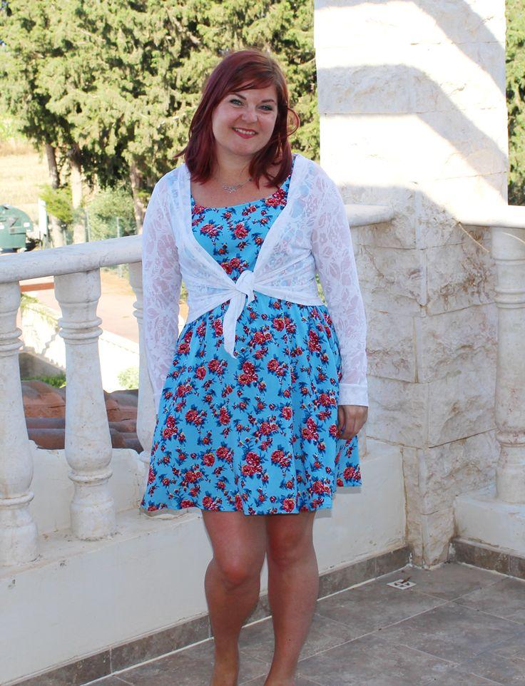 True Bias Southport dress and Seamwork Wembley cardigan