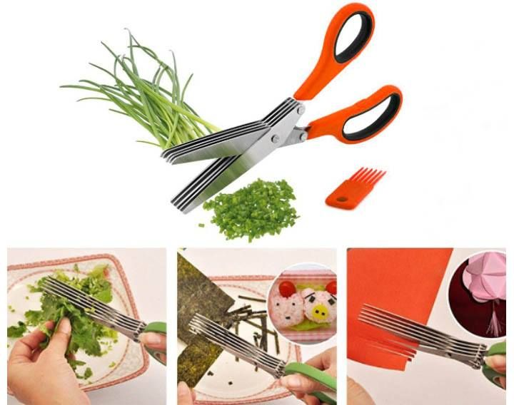 5-Blade Multifunction Stainless #Scissors for Fast Chopping. A great product for your kitchen!  #couponndeal #hotdeals #multifunctionscissor #knife #kitchen  http://www.couponndeal.com/coupon/multifunction-vegetable-stainless-steel-scissor