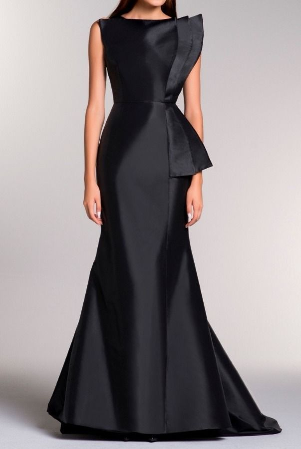 John Paul Ataker Black Sleeveless Taffeta Structured Geometric Gown Poshare Tie Dresses In 2018 Gowns