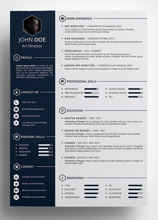 Free Creative Resume Template In Psd Format Pinteres Intended For